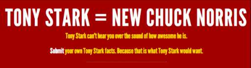 Fan Site Makes Tony Stark the New Chuck Norris