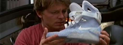 IRL: Nike's Back To The Future Auto-Lacing Shoe