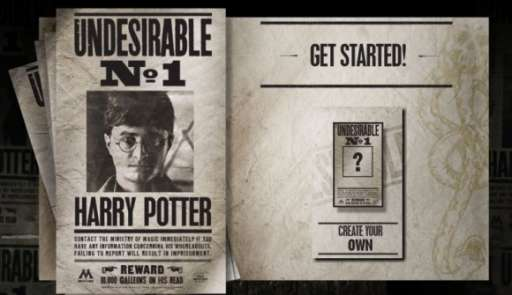 "Create Your Own ""Harry Potter Undesirable No. 1″ Poster"