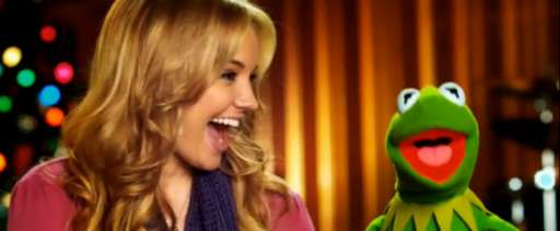 Kermit Duets with Tiffany Thornton In Holiday Music Video