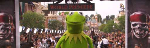 Check Out Kermit Cam At The Pirates Premiere