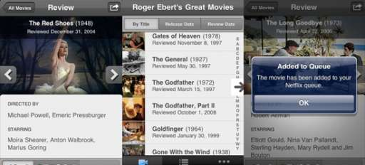 "Ebert's ""Great Movies"" App Now Available"