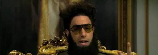 "Sacha Baron Cohen's General Aladeen From ""The Dictator"" Responds to Oscar Ban"