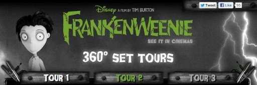 "New Interactive 360° Tour Of ""Frankenweenie"" Set"