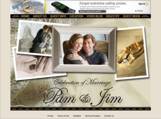 The Office: Jim & Pam's Wedding Site and More!