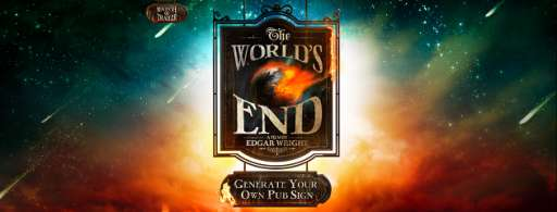 """Create Your Own Pub Sign for """"The World's End"""""""