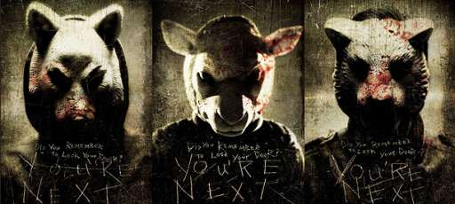 """You're Next"" Killer Masks Cover Famous Statues In Los Angeles & New York"