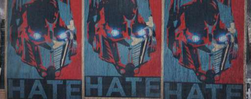 "Propaganda Posters Emerge On ""Transformers 4"" Set"