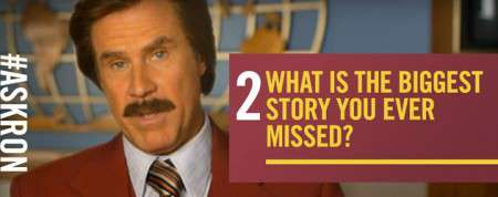 """Anchorman"" Gets An Exhibit In DC And Ron Burgundy Answers Twitter Questions"