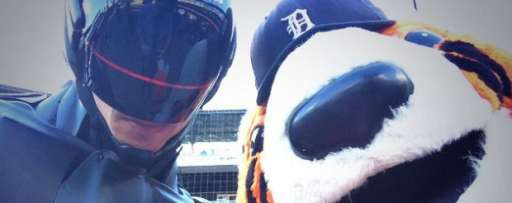 Watch Robocop Throw Out The First Pitch At A Detroit Tigers Game