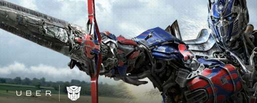 Uber Offers A Pickup From Transformer Optimus Prime In Marketing Tie-In