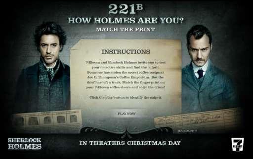 Sherlock Holmes: Let 7-Eleven Be Your Watson