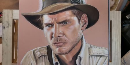 'You wanna talk to God?' Awesome artwork from Mike Jarvis. Sums up INDIANA JONES!