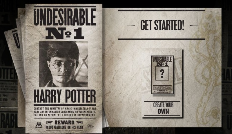 create your own �harry potter undesirable no 1� poster