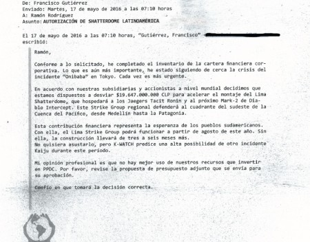 Pan Pacific Defense Memo From Peru