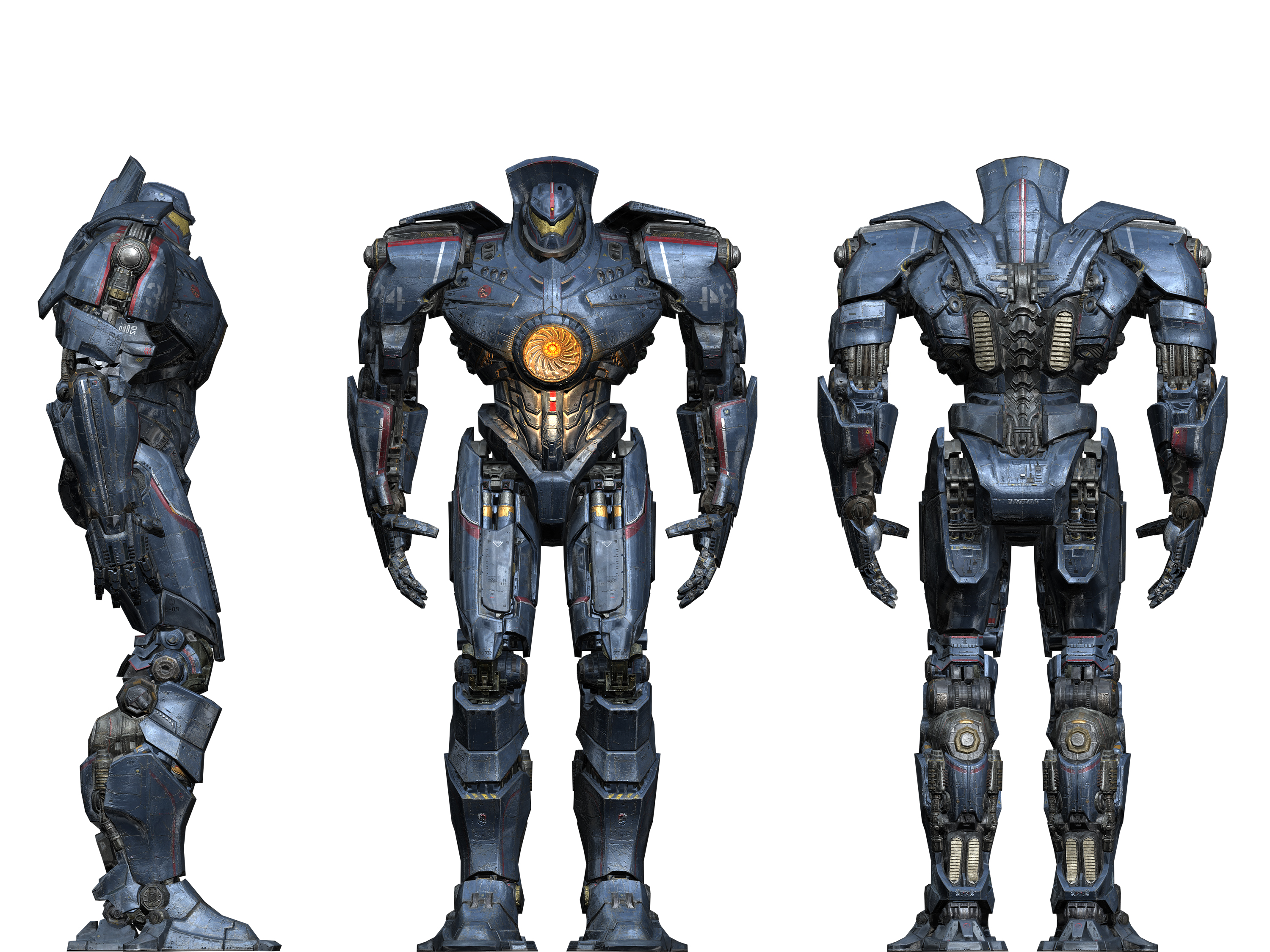 Two Pilots engaged in Neural Bridge: Gipsy Danger and ... Pacific Rim Blueprints