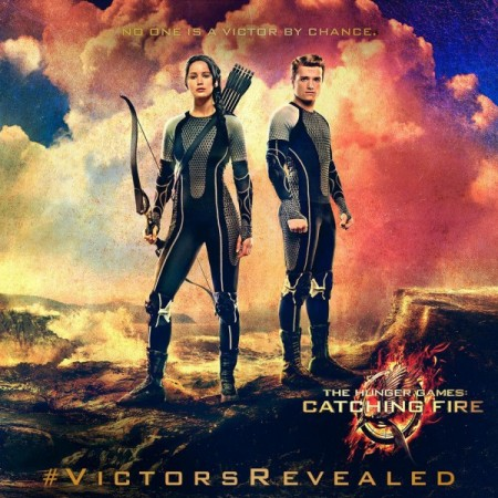 hunger games victory banner jennifer lawrence josh hutcherson