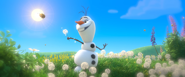 "Olaf Singing ""In The Summer"" In Disney's FROZEN"