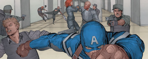 Captain America: The Winter Soldier starring Chris Evans and Scarlett Johansson