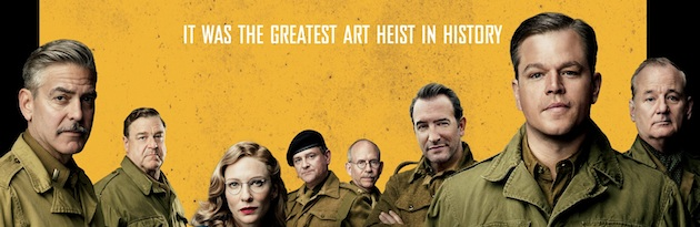 The Monuments Men starring George Clooney, Matt Damon, and Cate Blanchett