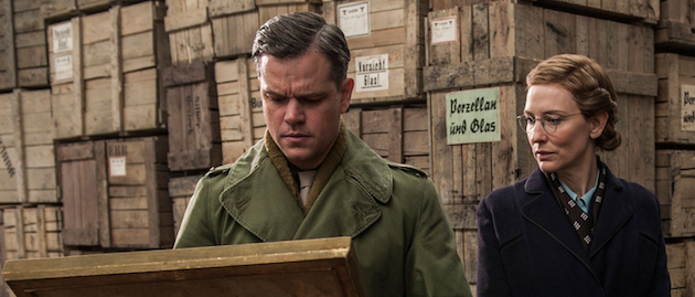 The Monuments Men starring Matt Damon, and Cate Blanchett