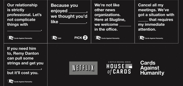 House Of Cards Against Humanity Pack Released