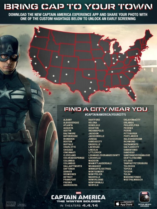 Captain America Experience App map