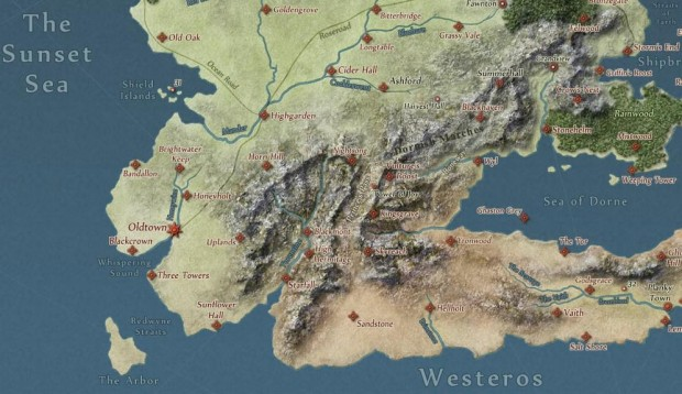 quartermaester map game of thrones
