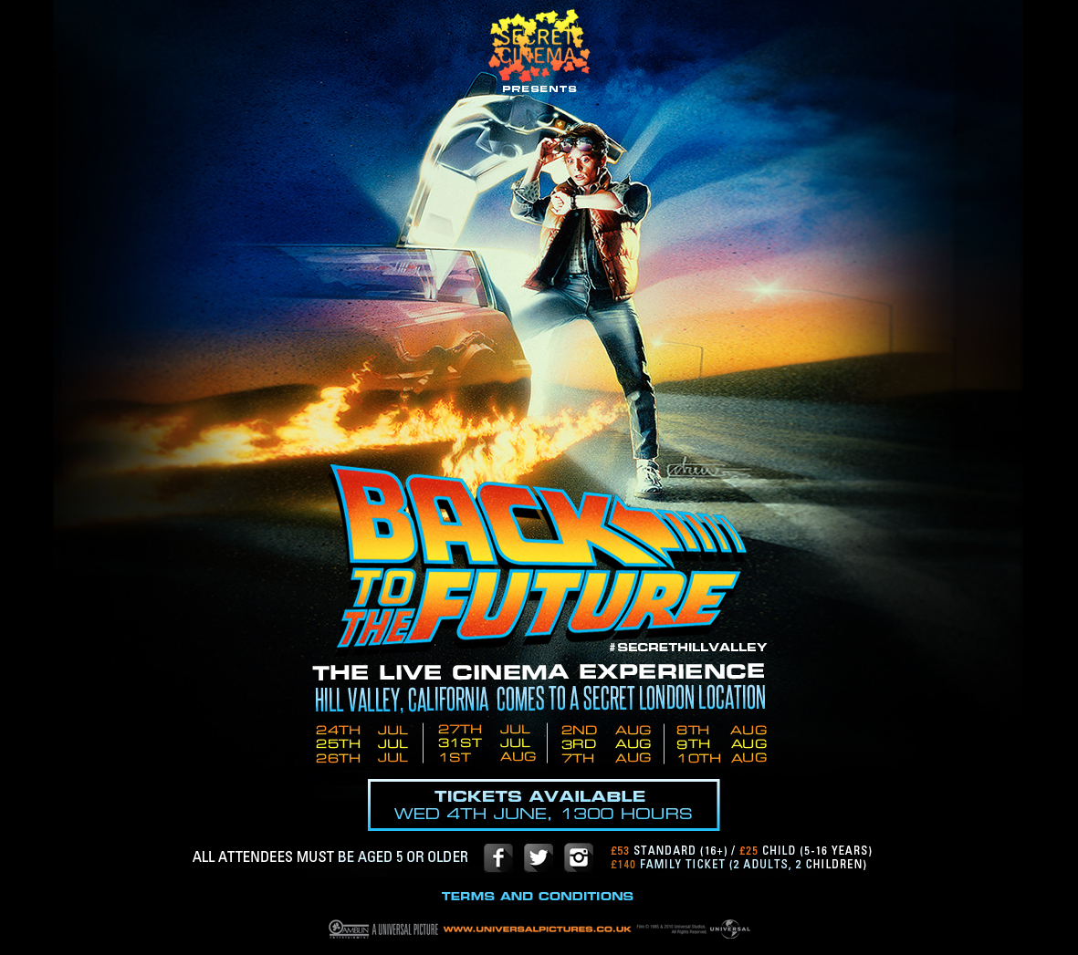 back to the future secret cinema tickets image