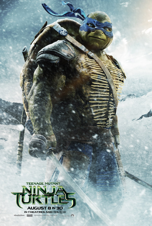 Teenage Mutant Ninja Turtles Movie Poster Leonardo