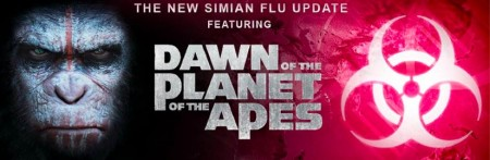 dawn of the planet of the apes simian flu image