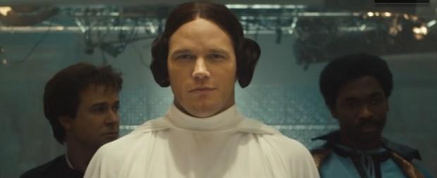 chris pratt princess leia saturday night live guardians of the galaxy
