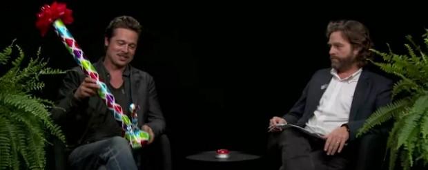 Zach Galifianakis and Brad Pitt