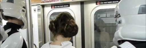 Improv Everywhere Strikes Again With 'Star Wars Subway Car'