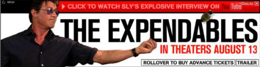 Stallone's Explosive Expendables Interview on YouTube