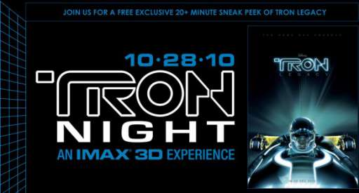 Tron Legacy Viral Is Back, Tron Night 2010 Announced