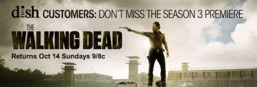 "AMC Offers DISH Customers Live Stream of ""The Walking Dead"" Season 3 Premiere"