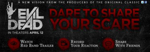 """Record Your Reaction To The New """"Evil Dead"""" Red Band Trailer"""