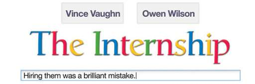 """The Internship"" Earns Rare Homepage Placement On Google"