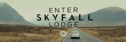 "Enter ""Skyfall"" Lodge In Interactive Website"