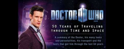 Doctor Who: 50 Years of Traveling Though Time and Space [Infographic]