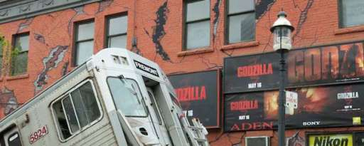 """Godzilla"" Takes Over Toronto Street To Promote Film"