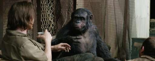 """Dawn Of The Planet Of The Apes"" Clip: This Ape Isn't Here To Entertain You"
