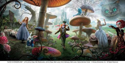 Alice in Wonderland: See the Full Banner in High Resolution