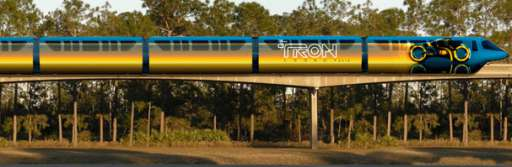 Disney Monorails Tricked Out With Tron Lightcycles