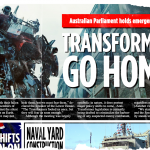 transformers age of extinction viral marketing newspaper_sydney